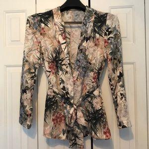 Beautiful shawl collared Zara blazer